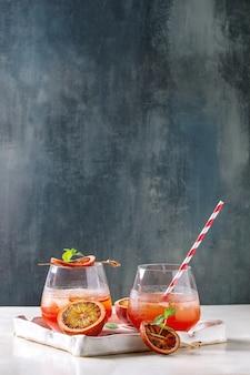 Blood orange cocktail