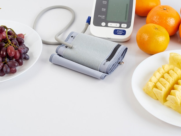 Blood pressure monitor and fruits