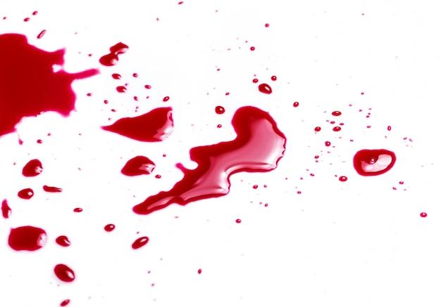 Spruzzi e gocce di sangue