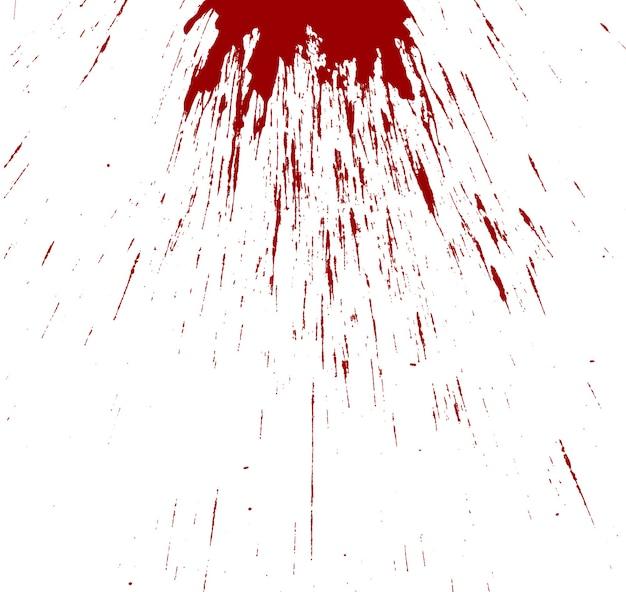 白地に飛び散る血
