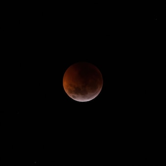 Blood supermoon with total lunar eclipse at dawn