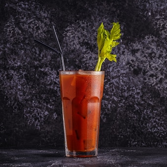 Bloody mary on a dark background