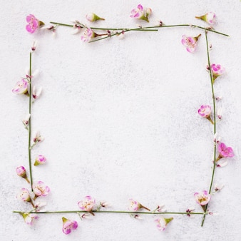 Blooming flowers frame