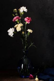 Blooming flowers in vase