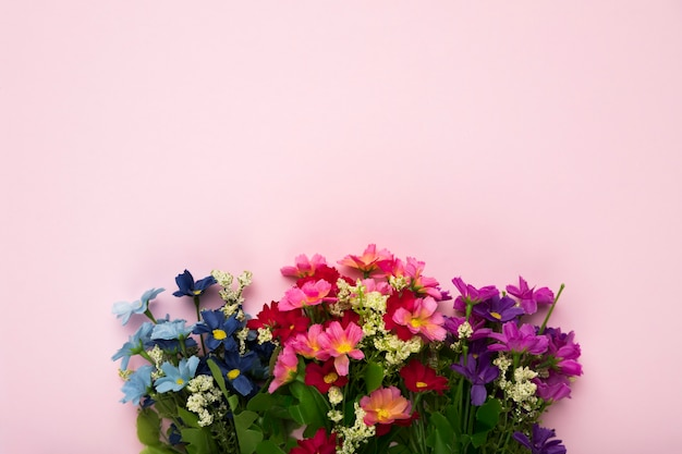 Blooming flowers with copy-space