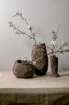 Blossom cherry branches