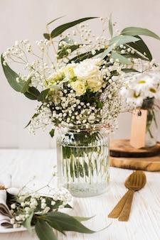 Blossom flowers in vase