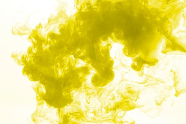 Blot of yellow pigment