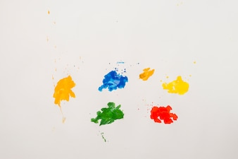 Blots of bright colors