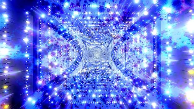 블루 추상 4k uhd 색상 변경 공간 입자 3d 그림