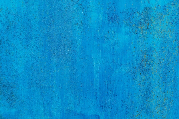 Синий абстрактный фон. старая ржавая поверхность металла, грубая текстура.