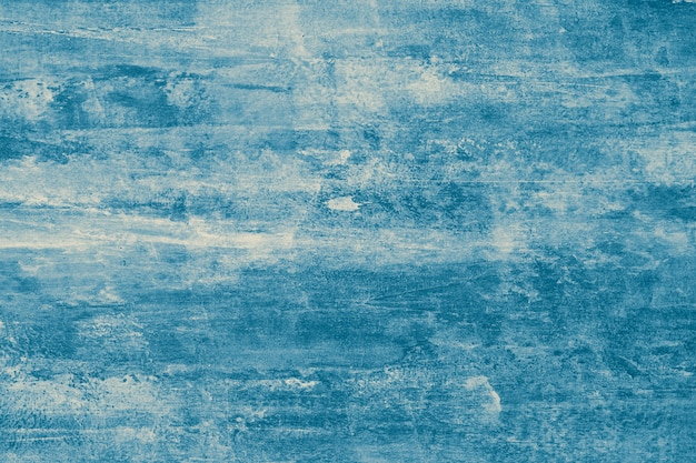 Blue abstract background texture of watercolor. grunge painted surface, ink template with blots, vintage drawing, dark aquarelle.