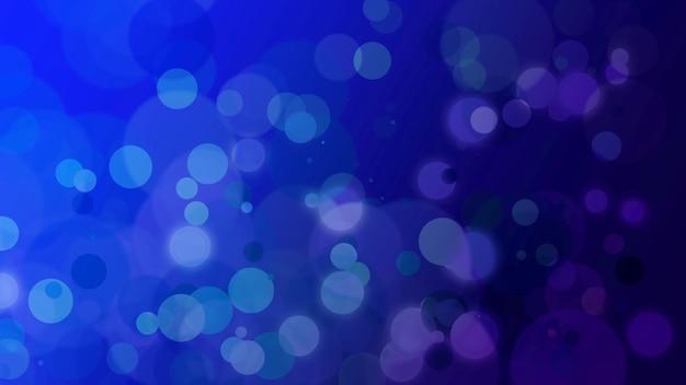 파란색 추상 bokeh와 빛나는 배경에 떨어지는 입자. 휴가를 위한 고급스럽고 우아한 스타일의 3d 그림