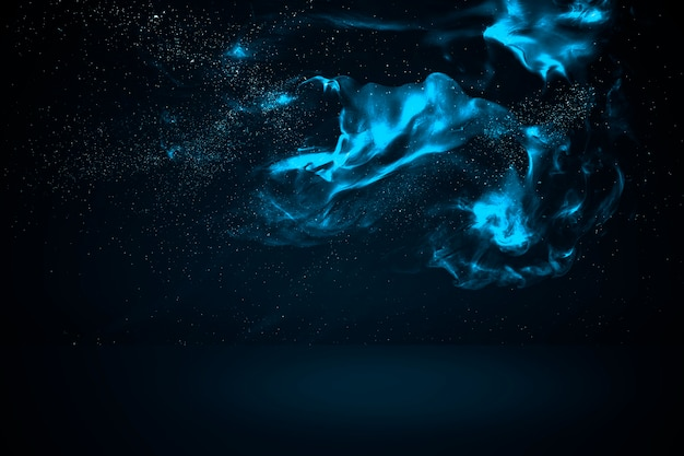 Blue abstract cloud product background