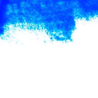 Синяя абстрактная краска на бумаге