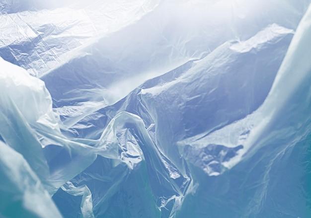 Concetto astratto blu del sacchetto di plastica