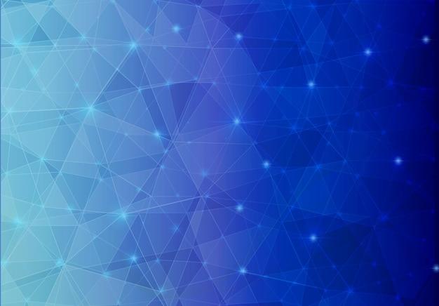 Синий абстрактный многоугольник