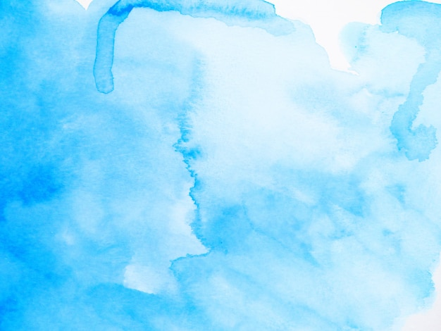 Blue abstract watercolor brush background. hand painted illustration.