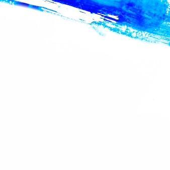 Синяя абстрактная акварельная краска на бумаге