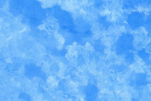 Синий абстрактный акварельный фон текстуры