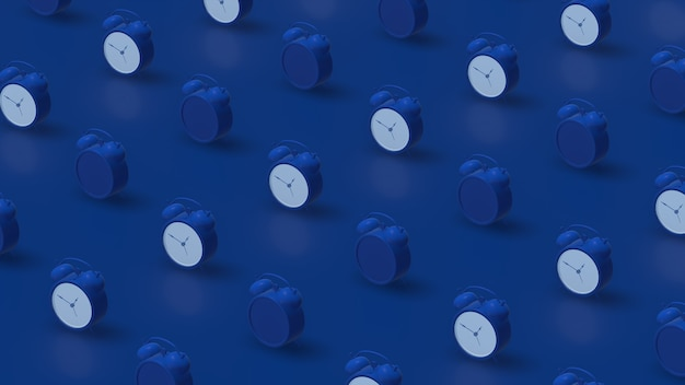 Blue alarm clocks