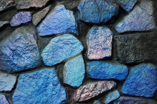 Синие и черные каменные стены фон