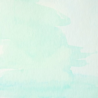 Blue and green abstract watercolor painting textured on white paper background