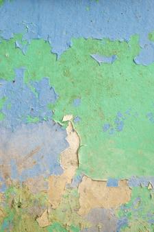 파란색과 녹색 오래 된 더러운 벽 질감 배경