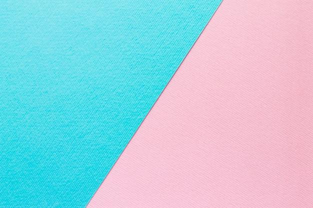 青と淡いピンクのパステル紙の背景