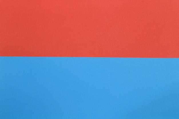 青とオレンジ色の段ボールアートペーパー。
