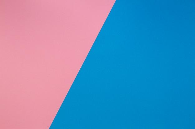 青とピンクの2トーン斜め分割カラー用紙の背景