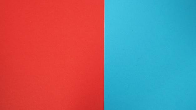 파란색과 빨간색 종이 보드 배경