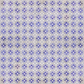 Blue and white hydraulic tiles pattern