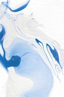 Синий и белый акварель абстрактный фон