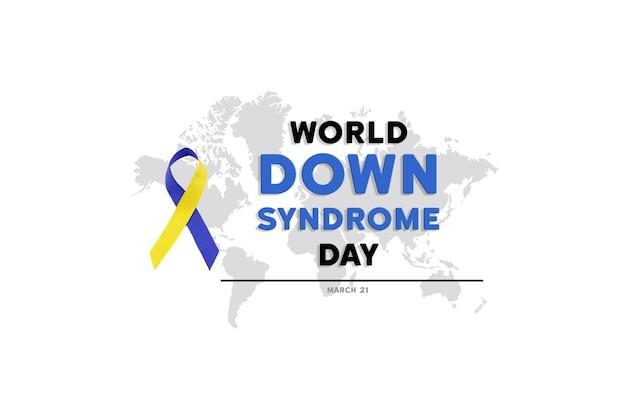 世界ダウン症の日の青と黄色のリボン