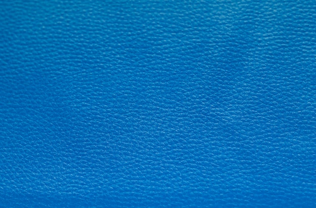 Blue artificial leather close-up, texture, background