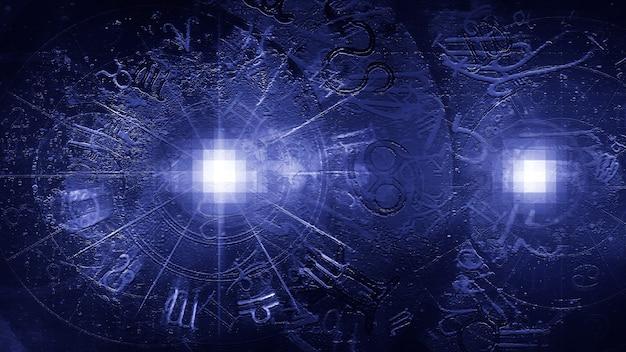 Синий астрология гороскоп узор текстуры фона, графический дизайн