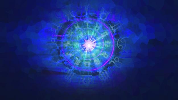 Синий астрология зодиака гороскоп узор текстуры фона, графический дизайн