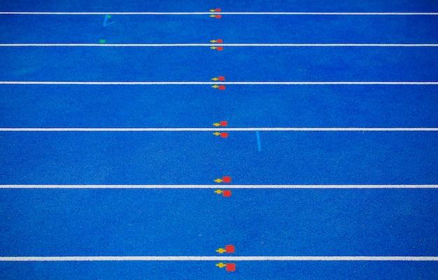 선수권 대회 준비 블루 체육 코트