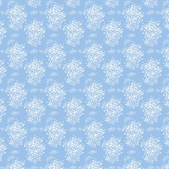 白い花と青い背景無限のテクスチャは、壁紙のwebページの背景に使用できます