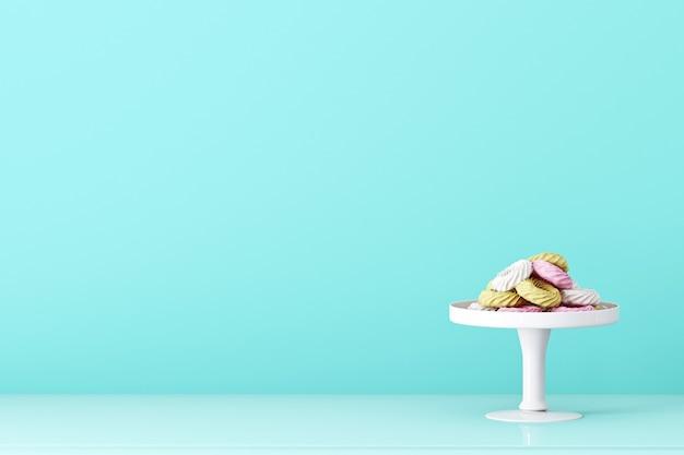 Синий фон с пончиками