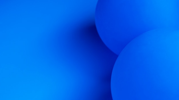 Blue balloons with copy space close-up