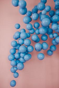 Blue balls. wedding or birthday decoration.