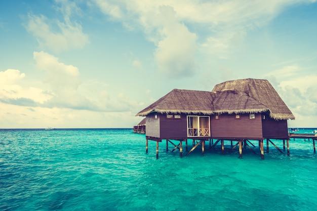 Blue beach hotel landscape beautiful