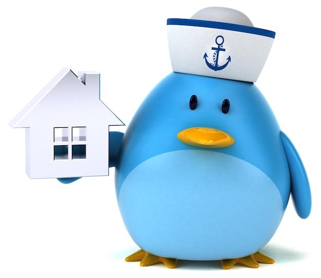 Blue bird - 3d character