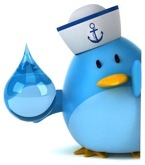 Синяя птица - 3d персонаж