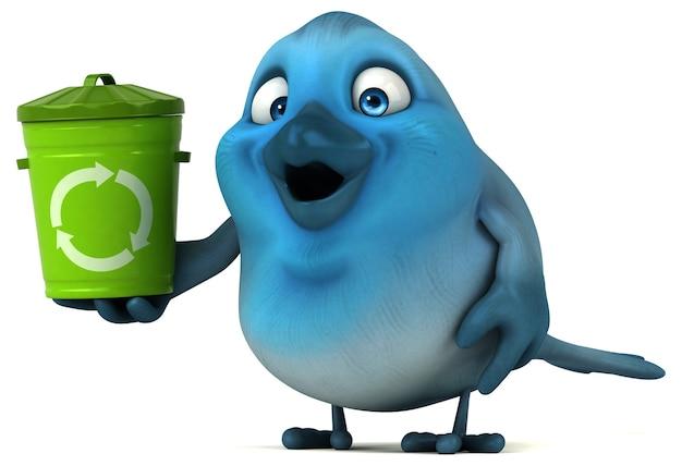Голубая птица иллюстрация