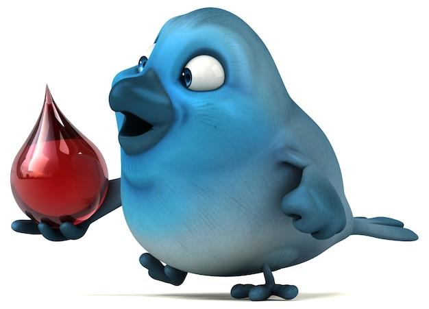 Иллюстрация синей птицы