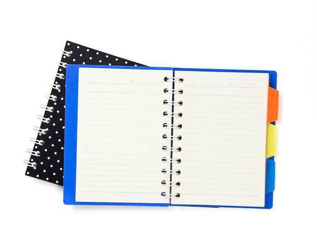 Blue and black notebook