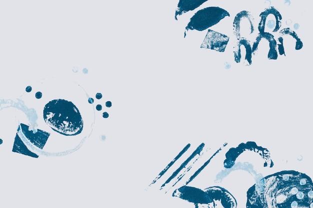 青いブロック印刷パターンの背景